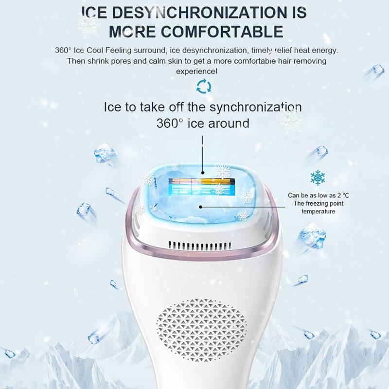 laser hair removal Flashes Ice Cool Laser Hair Removal Epilator depiladora Painless Whole Body Home Use IPL Photoepilator enlarge