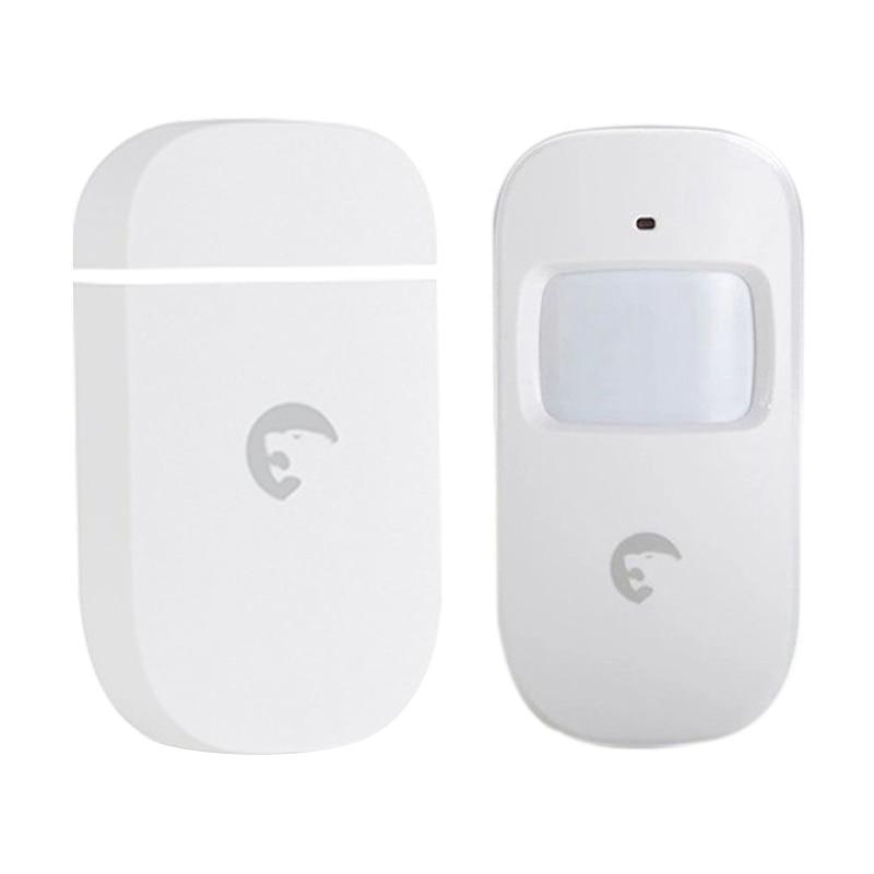 Sensor de movimiento PIR Etiger ES-D1A inalámbrico gran angular PIR movimiento Detector & Etiger ES-D3C inalámbrico puerta/ventana alarma de contacto Hom