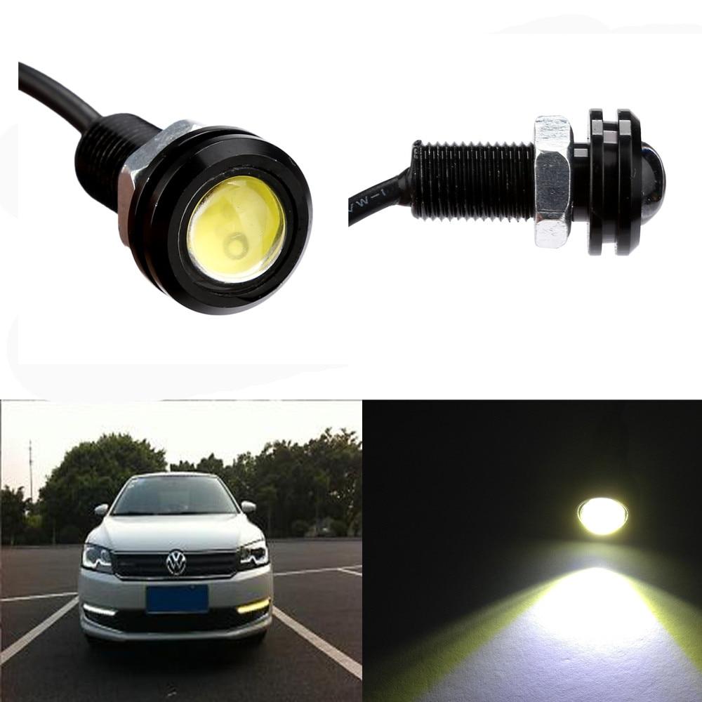 1 pieza de 18MM de Luz LED DC12V 9W ojo de águila Luz de marcha atrás automática Luz del coche