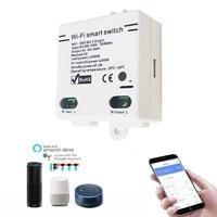 Commutateur intelligent de bricolage de WIFI telecommande sans fil 100-250V commutateur domotique intelligent Compatible avec lassistant a la maison dalexa Google