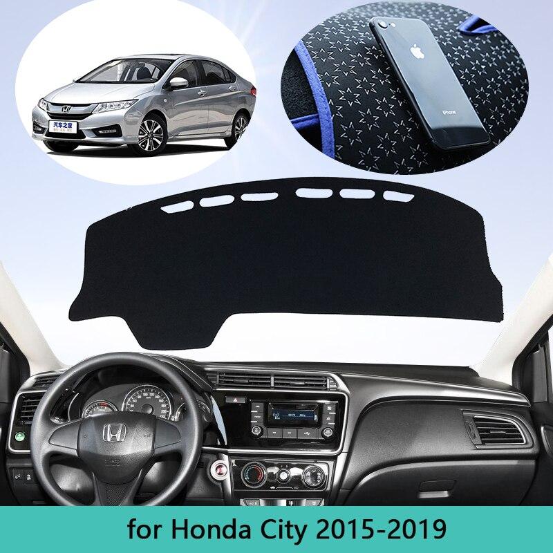 Anti-kirli Mat Dashboard kapak Pad güneşlik Dashmat koruyucu Honda City için GM6 2015 2016 2017 2018 2019 araba aksesuarları pelerin