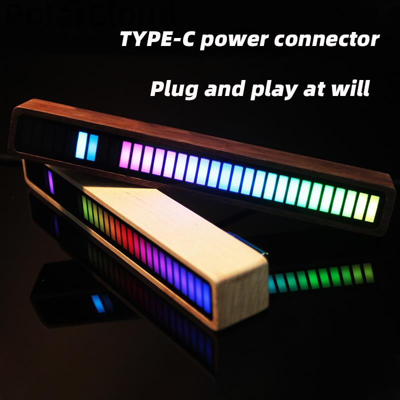 Visible Rhythm Lights RGB Colorful Auto Music Sound Control LED Level Light Game Bed Room Vehicle Atmosphere Light Backlight enlarge