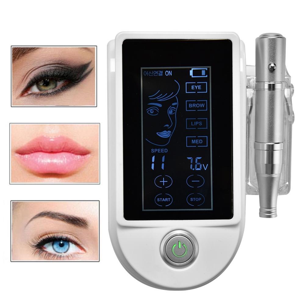 Multifunctional Digital POP Sliver Intelligent Body Lip Eyebrow Permanent Makeup 10-speed Panel control Rotary Tattoo Accessory