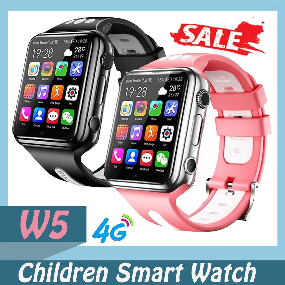 W5 Smart Watch 4G Video Call Kids Watch 2/4 Core GPS WIFI Student Children Bluetooth Camera Clock Relogio Inteligente Smartwatch
