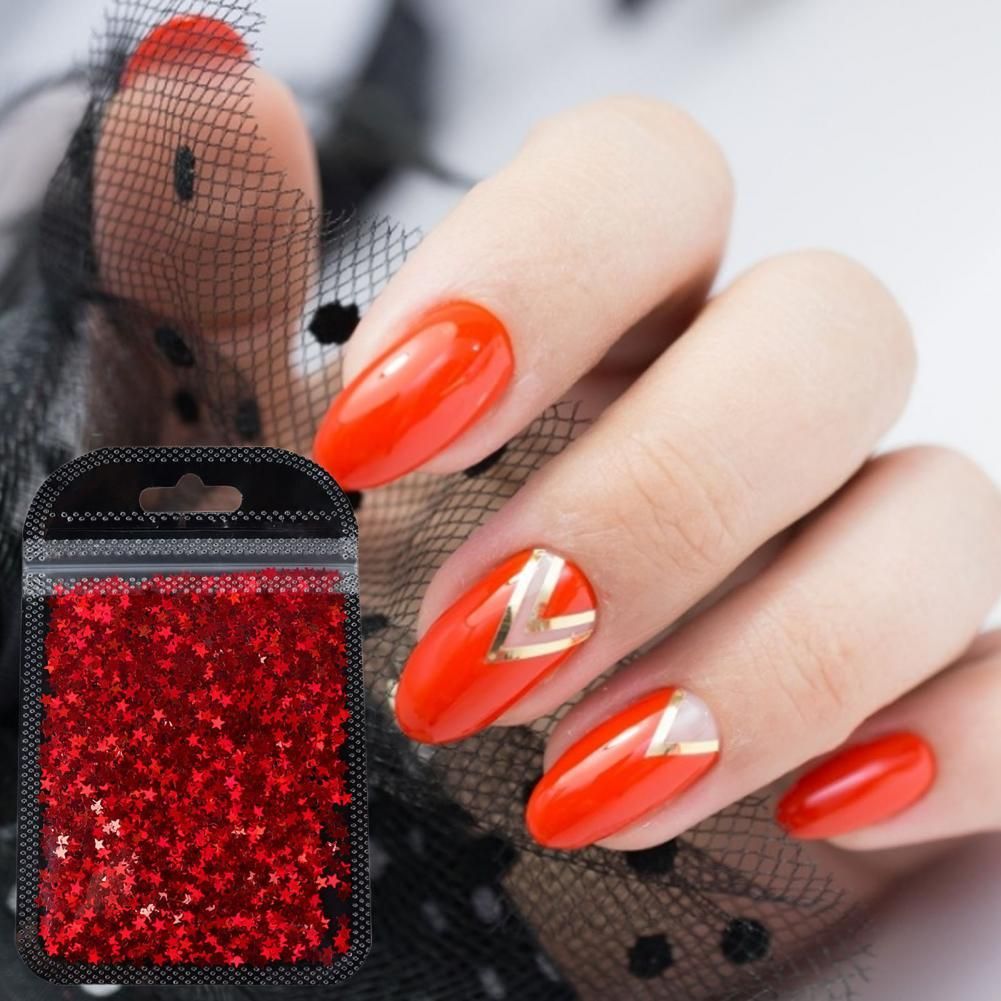 Nail Flakes Symphony Temperature Resistance ABS Holographic Nail Glitter Flakes for Makeup