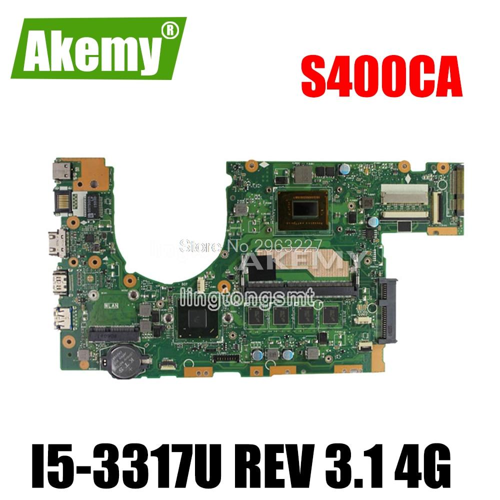 Para For For For For Asus S500c s400c S400CA S500CA Tablero Principal original placa madre 60NB0060-MBF000 69N0NUM1EA00 con i5-3317CPU 100% prueba