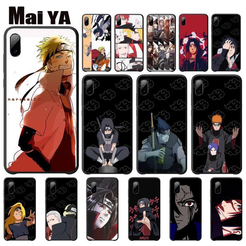 Maiya naruto anime dor uchiha sasuke uzumaki capa para iphone se2 7 8 plus x xs max xr 11 pro max telefone acessórios