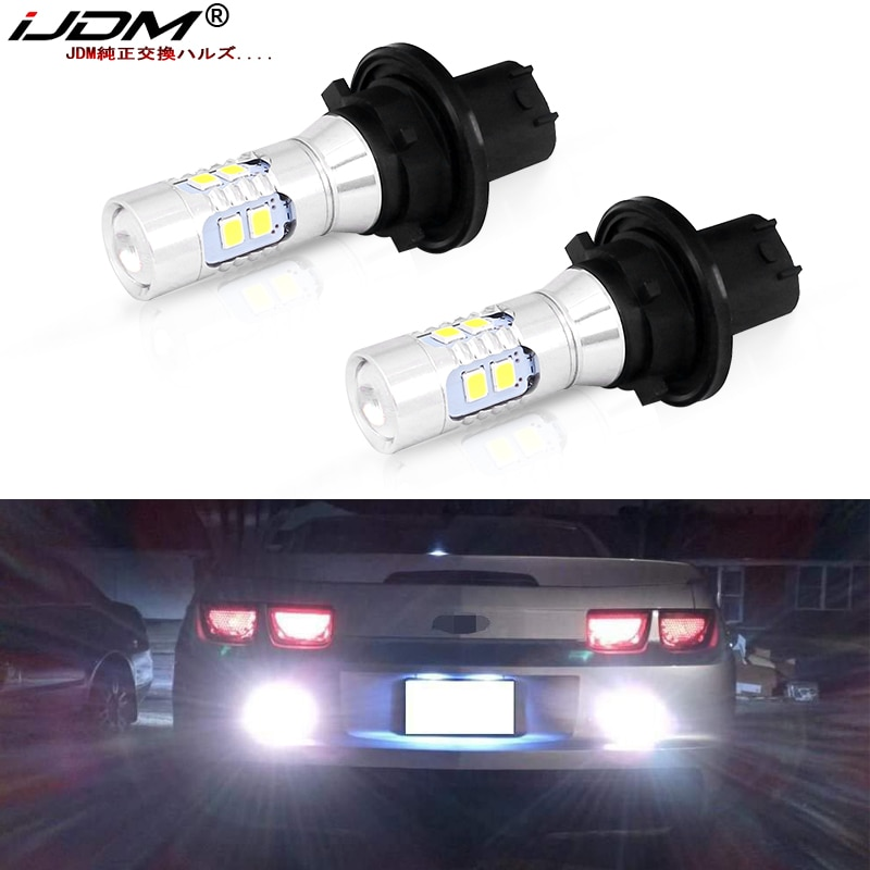IJDM xenón blanco Error CAN-bus PHC24WY PH24W bombilla LED para 2010-2013 Chevrolet Camaro SRX Taurus, etc. Las luces de marcha atrás de copia