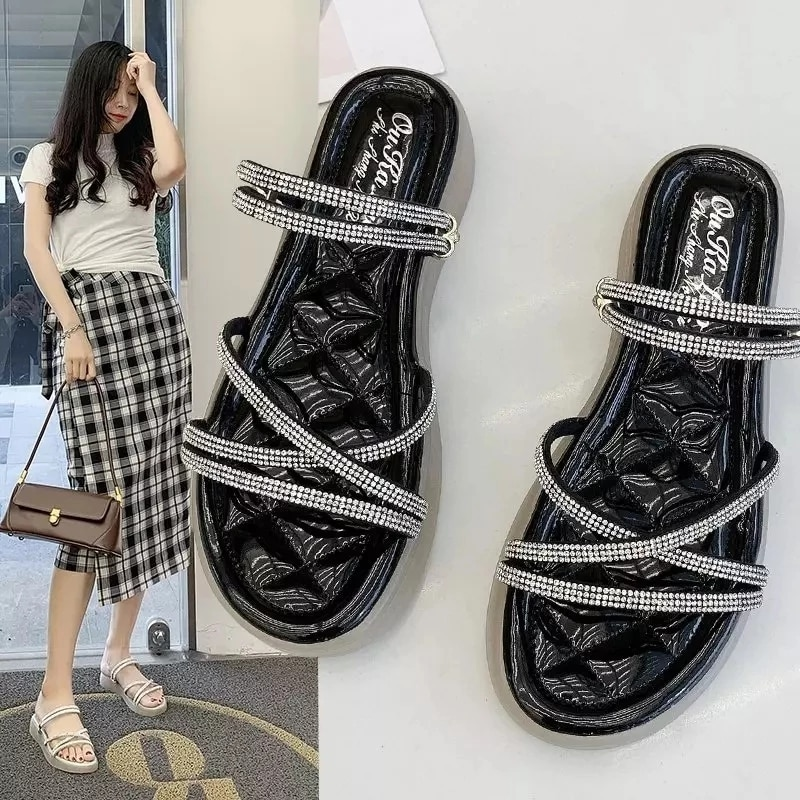 2021 European and American hot sale summer new style women's shoes flat jelly bottom fashion sandals