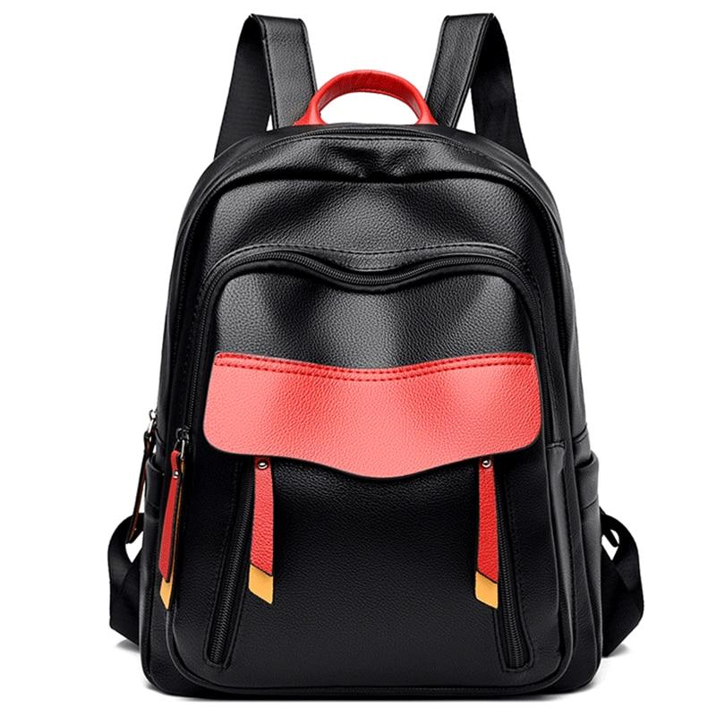 Брендовые дизайнерские рюкзаки для школьников, подростков, девочек, кожаный рюкзак с панелями, Женский Повседневный дорожный рюкзак, Bolsa ...