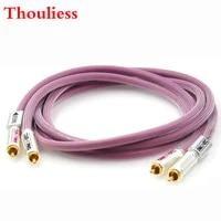 thouliess pair hifi gold plated rca plug htp1 pro rca xlo audio cable cd amplifier player speaker rca interconnect cable