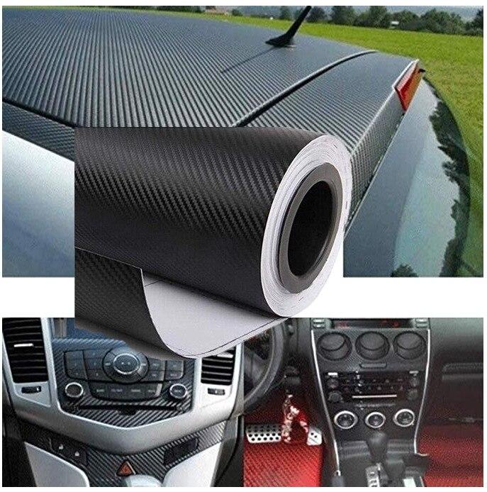 1.27M x 30cm 3D סיבי פחמן ויניל רכב לעטוף גיליון רול סרט מדבקות לרכב ומדבקות אופנוע רכב סטיילינג אביזרי מכוניות