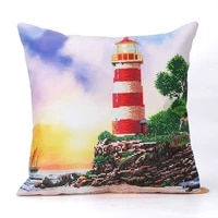 lighthouse partial round drill diamond painting cushion cover replacement pillow case diy art mosaic cross stitch gift decor