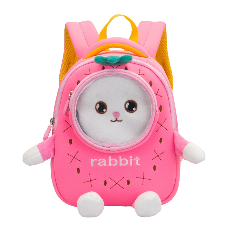 Girl School Bags Child Pink Purple Oxford Printing Backpack Kindergarten Student Cute Girls Children's Schoolbag Waterproof Kids