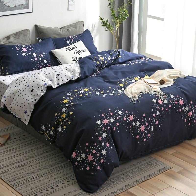 Juego de cama con funda de edredón a cuadros roja, juego de cama de sábana plana con estampado de hojas y corazones, juego de ropa de cama nórdica 3/4 Uds.