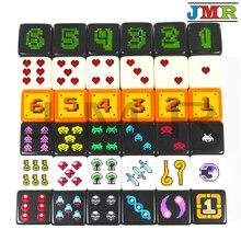 18mm Digital D6 dados 6 unids/set de plástico 6 de cubo de Poker/juego/educación juego de juego