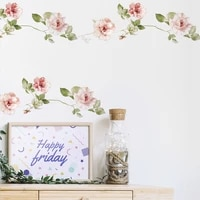 new style flowers vine wall sticker bedroom home decoration living room skirting removable wallpaper self adhesive stickers