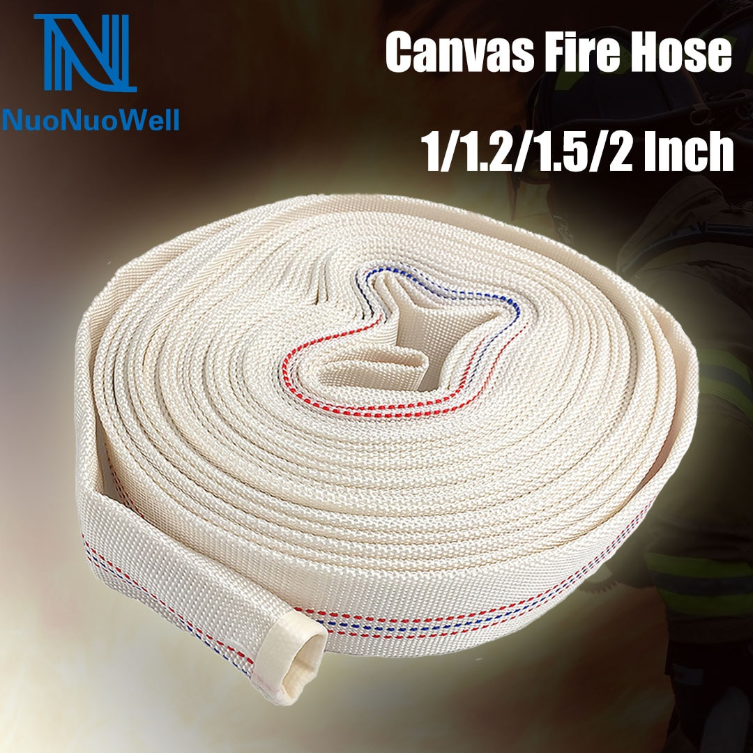 NuoNuoWell Heavy Duty Canvas Hose Agricultural Irrigation Garden Watering Belt High Pressure Pump Fire Hose Explosion-Proof