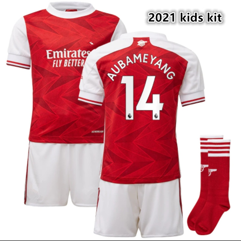 Top Quality kids new child shirt Odegaard BELLERIN SAKS AUBAMEYANG OZIL LACAZETTE PEPE THOMAS kid kit 2021 2022 ArsenalES shirt