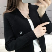 Autumn Winter Knitted Female Cardigan Loose Streetwear Knit Sweater Coat Long sleeve O Neck knitted