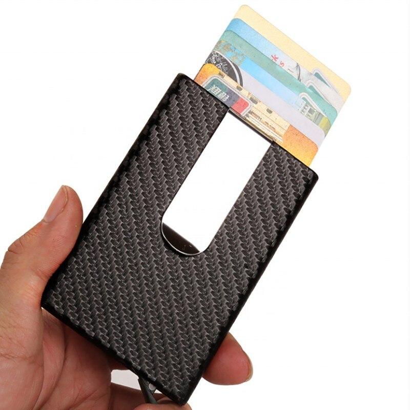 Автоматический всплывающий кредитный держатель для карт, мужской бизнес-держатель из алюминиевого сплава для ID карт, тонкий кошелек для мужчин, модный держатель для карт