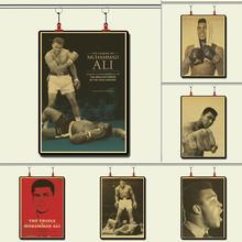 Champion de boxe Muhammad Ali battre Vintage papier affiche peinture murale décoration de la maison 42X30 CM 30X21 CM