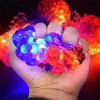 Сетчатый мяч для снятия стресса, 10 мл, светодиодные светящиеся игрушки в форме винограда, снятие тревоги, мяч для снятия стресса, фиджет-игру...