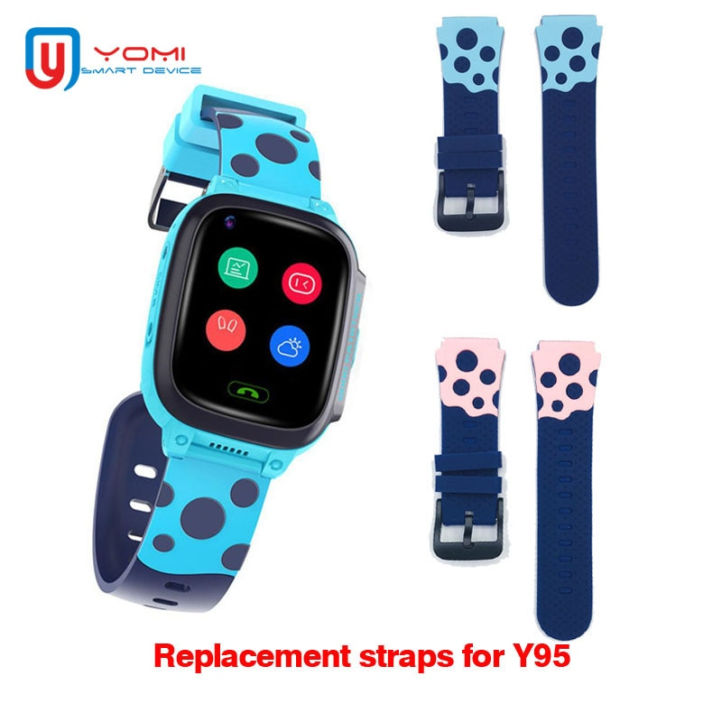 Watch Straps 20MM for GPS Watch Kids Watch Belts Replace 4G Smartwatch Replacement Bands Baby Watch Clock Smart Accessories