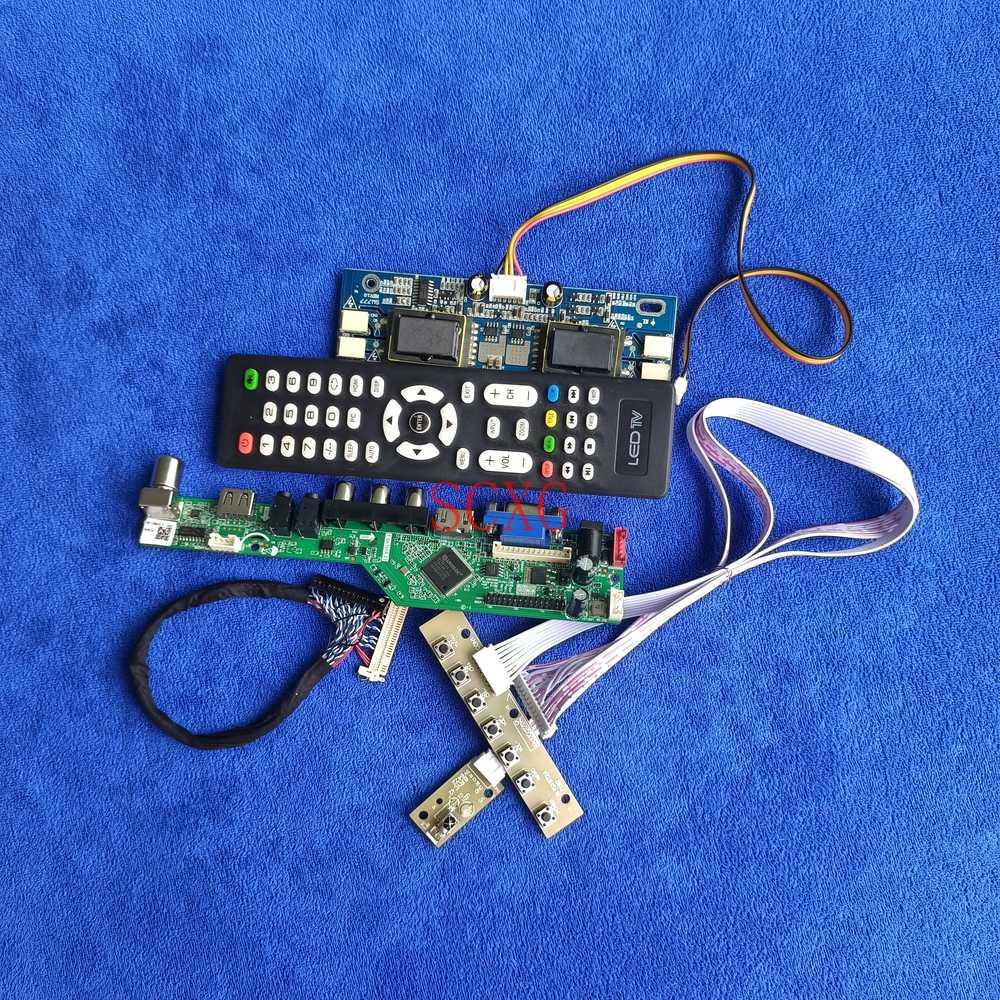 Fit LM181E04/LTM181E4/TM181SX إشارة التناظرية AV VGA USB HDMI-متوافق شاشة LCD كارت قيادة 30 دبوس LVDS لتقوم بها بنفسك عدة 4CCFL 1280*1024