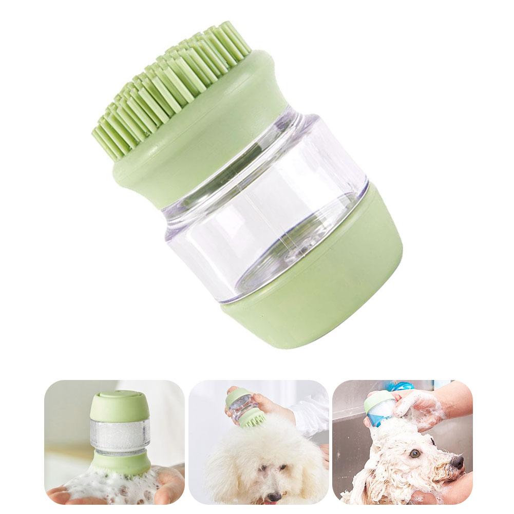 Cepillo masajeador de champú para perros y gatos, cepillo de ducha para...