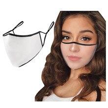 Maschera trasparente Unisex per sordi Mute Chat maschera scudo in plastica per donna uomo protezione decorazione trasparente maschera mascara maschera