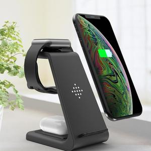3-in-1 Qi Wireless Charger 10W Quick Charging Station For iPhone11Pro/Xr/Xs/AirPods Pro