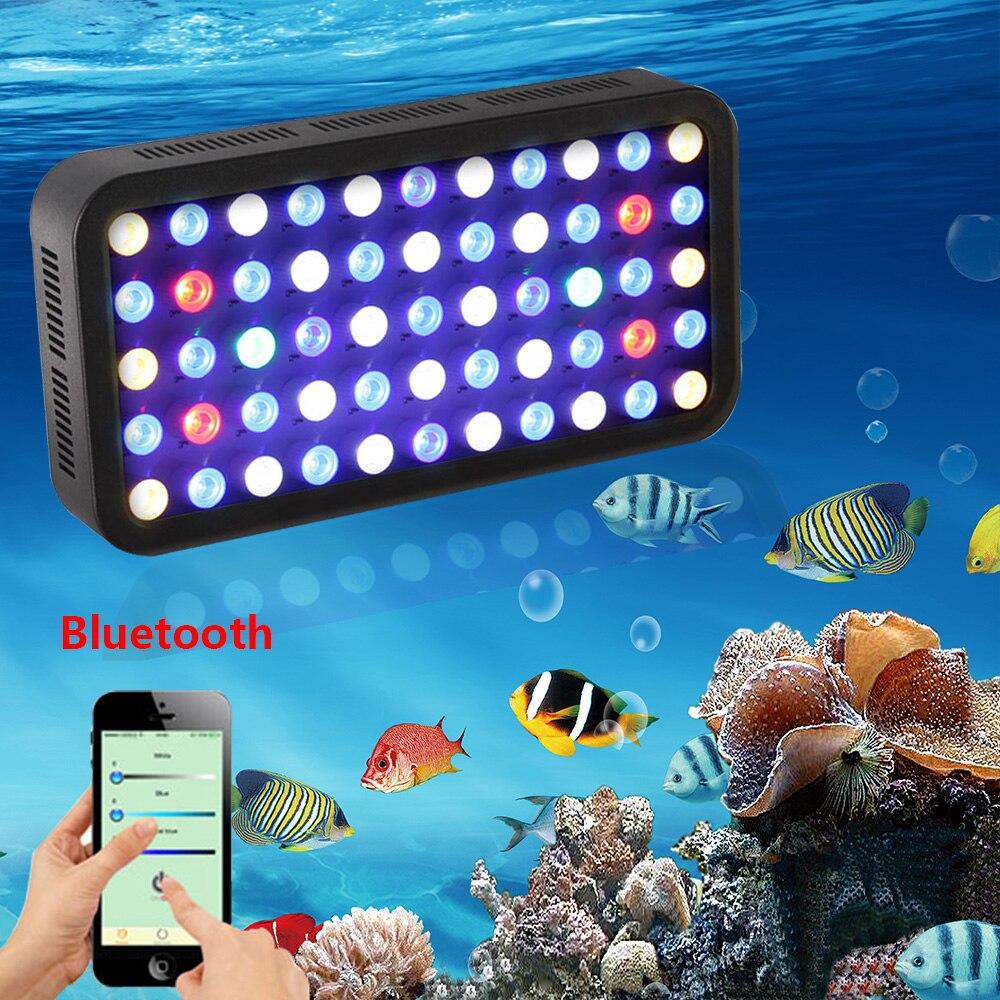 165w led luz do aquario temporizador iluminacao recife marinho coral aquario aquario