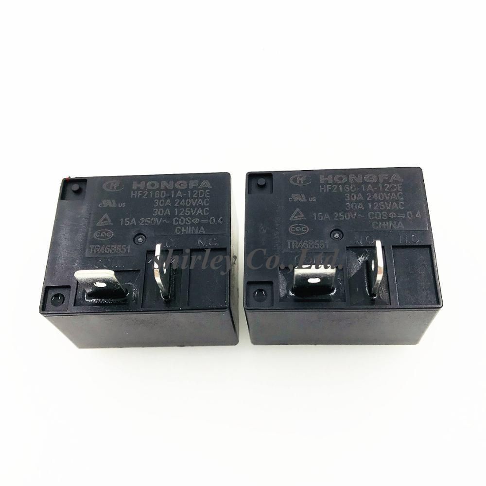 10 шт. HF2160-1A-12DE 100% новым реле DC12V 30A 240 В переменного тока/30A 125V AC 4Pin HF2160 1A 12DE группа нормально разомкнутый 30A240VAC T93 SLI