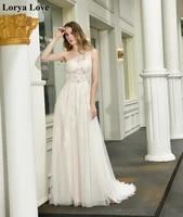 ivory wedding dresses 2020 bride gowns one shoulder court train long tulle lace applique sleeveless waistband vestidos de novia