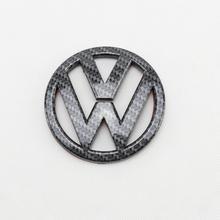 Badge de remplacement de couvercle de coffre arrière   En Fiber de carbone de 90mm, emblème de remplacement pour VW Scirocco MK3