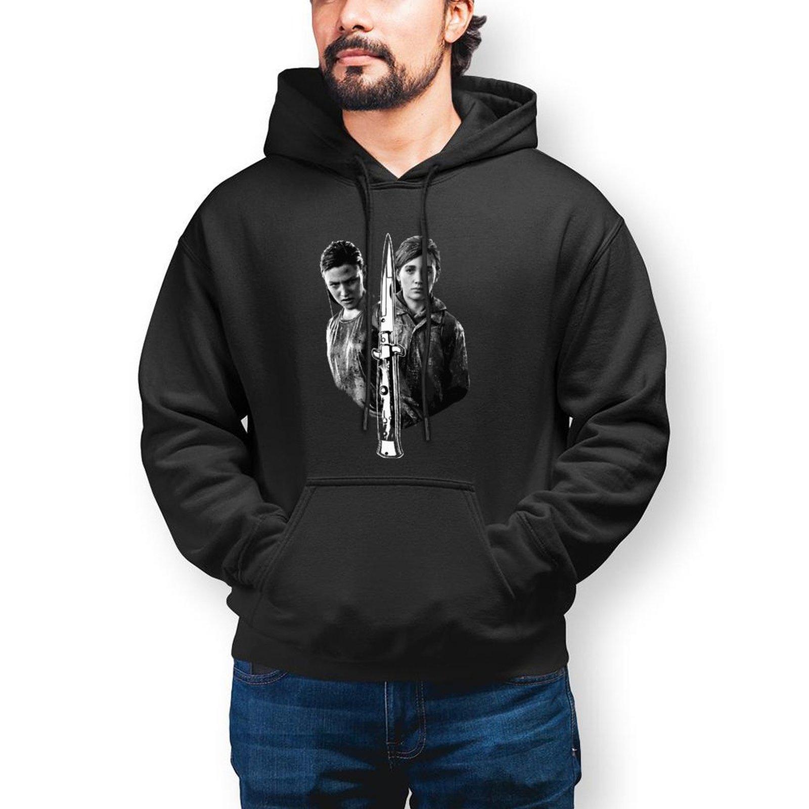 Толстовка Last Of Us, свободные зимние худи, стильные длинные мужские большие размеры