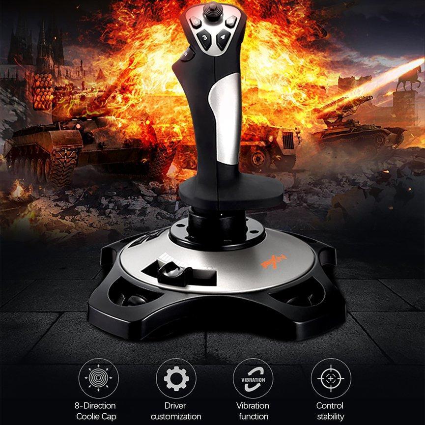 For PXN-2113 Flight Simulator Gamepad Vibration Controller USB Wired Gaming Joystick Joypad For PC/Desktop Game Accessories enlarge