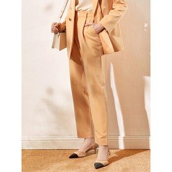 Khaki Pants Women's Loose Straight Slimming All-Match Suit Pants Women's Business Wear Work Elegant Wide Leg Pants