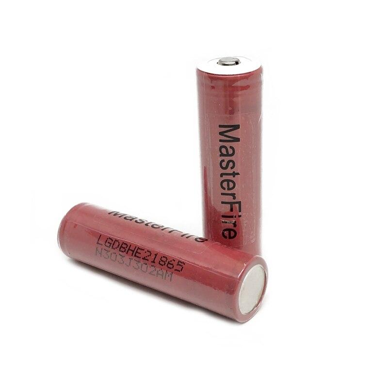 MasterFire 2 teile/los Original LG ICR18650HE2 2500mah lithium-18650 batterie HE2 wiederaufladbare e-cigs batterien 30A + Punkt kopf