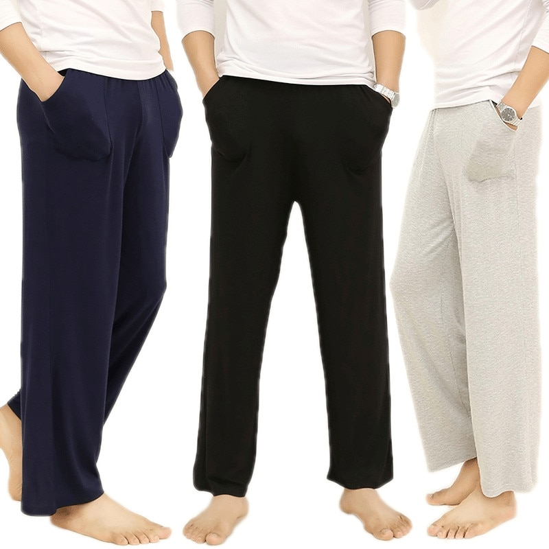 Men's Lounge Pants Soft modal Sleep Bottoms long trousers Loose Casual Pajamas Summer Homewear sweatpants