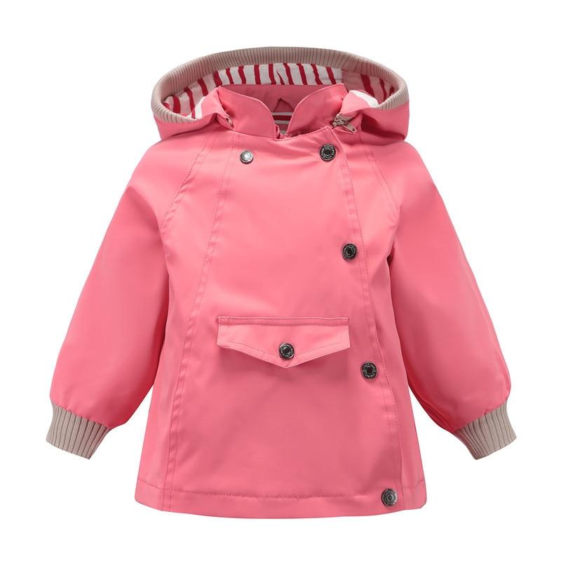 ¡Novedad de primavera otoño 2020! Chaquetas para bebés y niñas, ropa de abrigo para niñas, chaquetas impermeables de doble cubierta