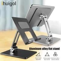 ihuigol metal desktop phone holder stand foldable adjustable holder smartphone support tablet cell phone for iphone ipad samsung