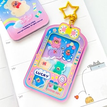 Milkjoy Cartoon Bear Grab Dolls Keychain ins Style Acrylic quicksand keychain Bag Pendant