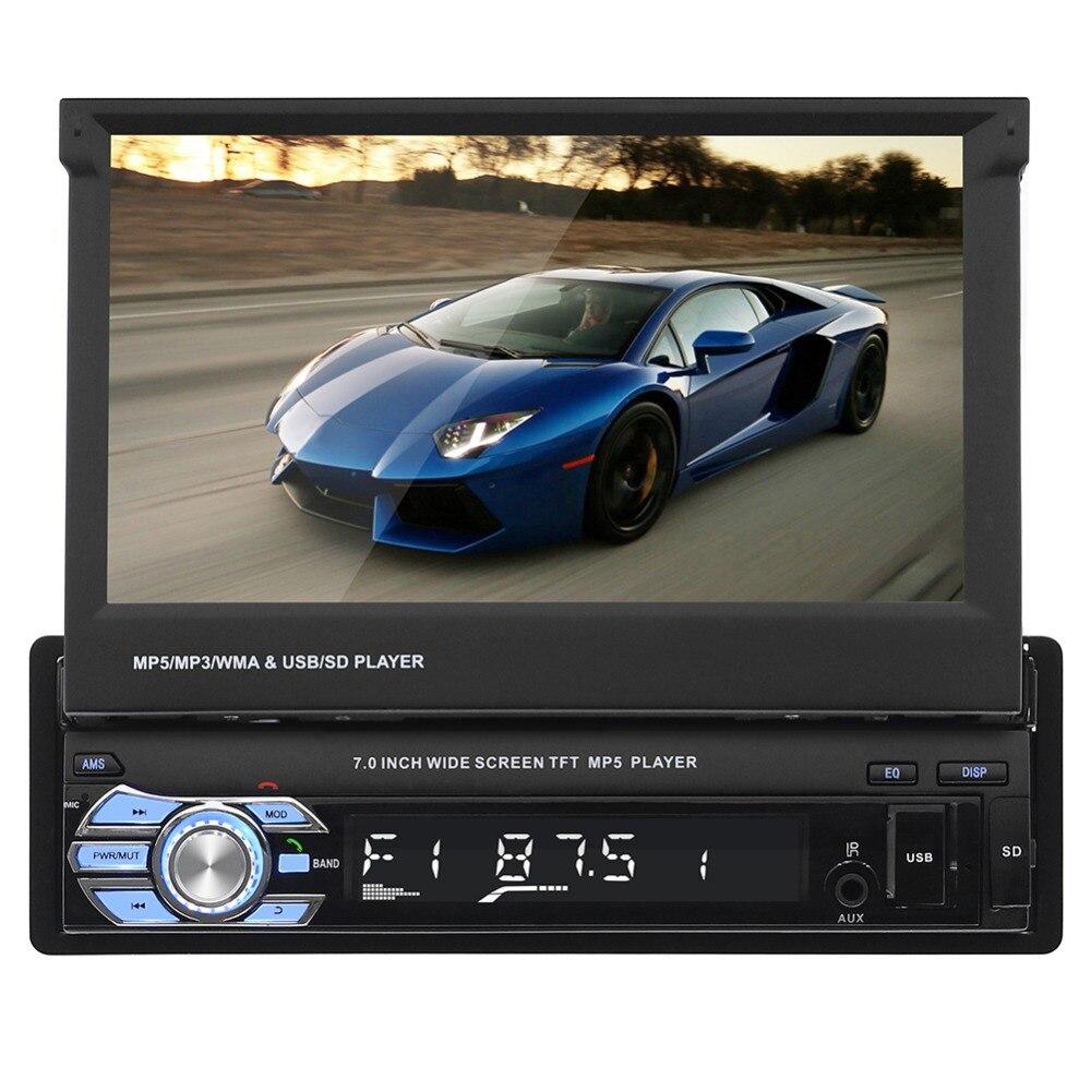 Radio de coche estéreo Universal 7 pulgadas pantalla táctil deslizante 1DIN Control remoto FM Bluetooth MP3 MP4 MP5 reproductor de Audio de música 9601