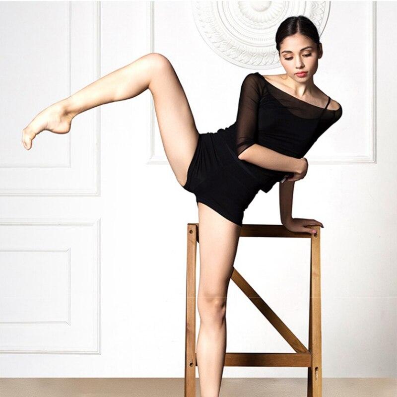AliExpress - Ballet Tops Women Mesh Dance T Shirt Leotard Top Ballerina Ballet Wear Half Sleeve Crop Tops for Dancing Dancewear dance costume