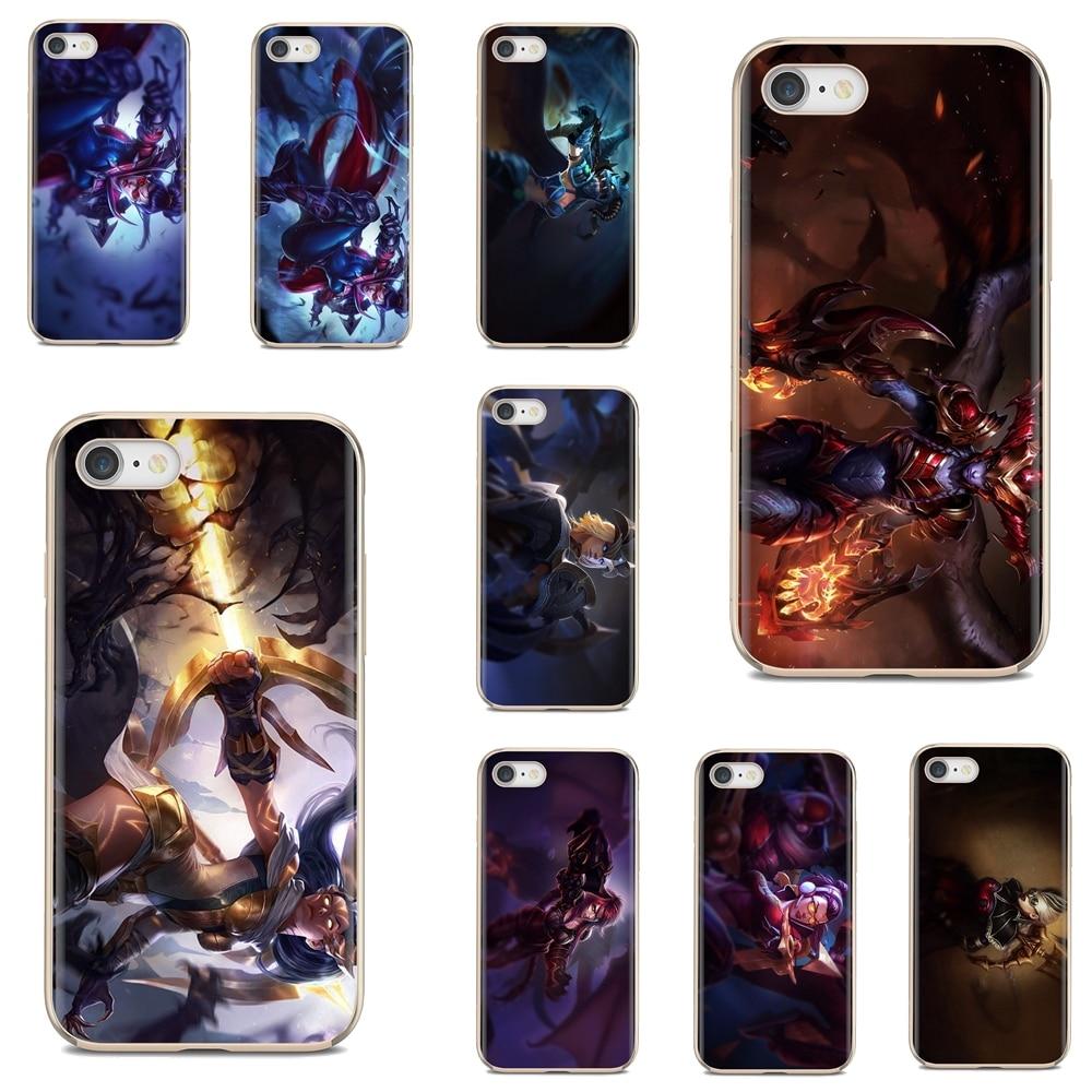 TPU funda de silicona Shyvana Vayne LOL juegos para iPod Touch para iPhone 11 Pro 4 4S 5 5S SE 5C 6 6S 7 7 8 X XR XS Plus.