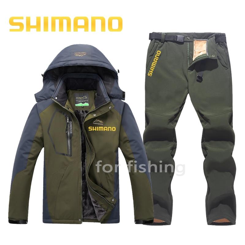 Autumn Winter fish suit Daiwa Fishing Clothing Men Windproof Suit Hiking Camping Mountaineering Fishing Set Warm Fishing Wear enlarge