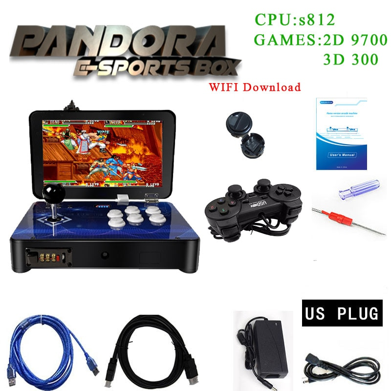Pandora Box-بارتوب أركيد صغير ثلاثي الأبعاد ، 4018 في 1 ، شاشة 10 بوصة ، حفظ الألعاب ، التسجيل عالي المستوى ، يمكنه إضافة 10000 لعبة ثلاثية الأبعاد ، tekken