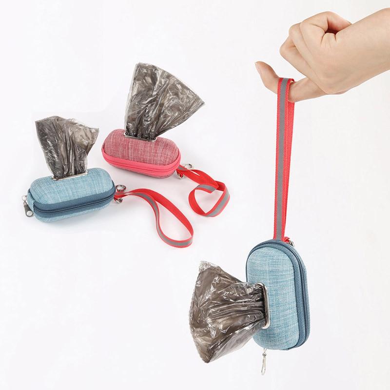 Bolsas para caca de perro o mascotas ecológicas, dispensador de bolsas de basura para perros, bolsas de basura para perros, recogedor portátil para exteriores, bolsa para recoger caca, estuche de soporte para bolsa
